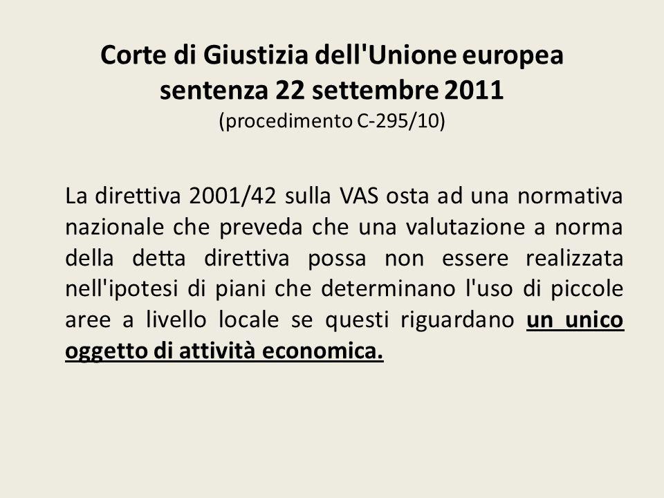 Corte di Giustizia dell Unione europea sentenza 22 settembre 2011 (procedimento C‑295/10)