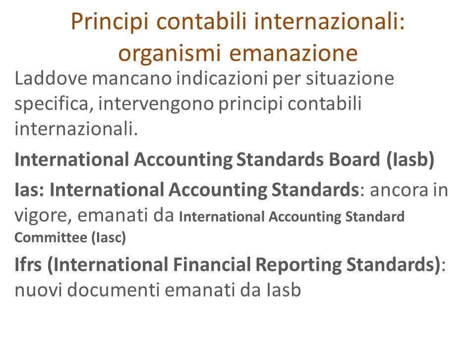 Principi contabili internazionali: organismi emanazione