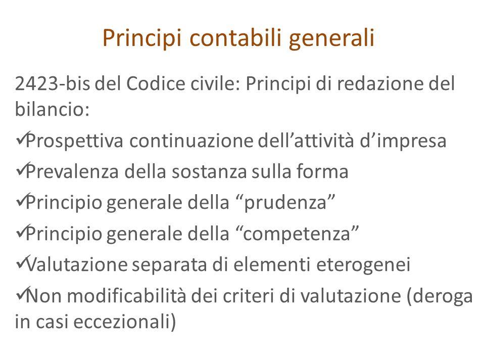 Principi contabili generali