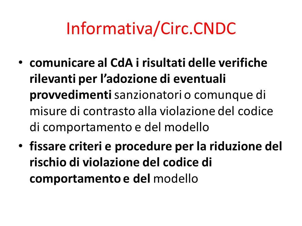 Informativa/Circ.CNDC
