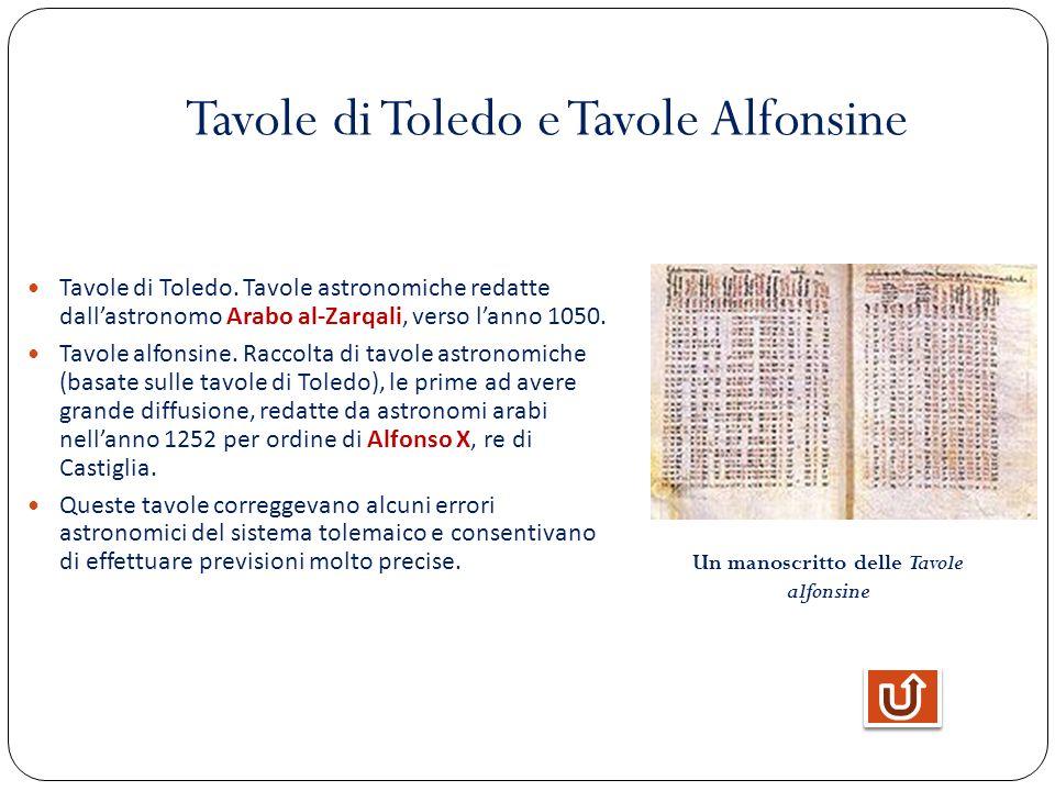 Tavole di Toledo e Tavole Alfonsine