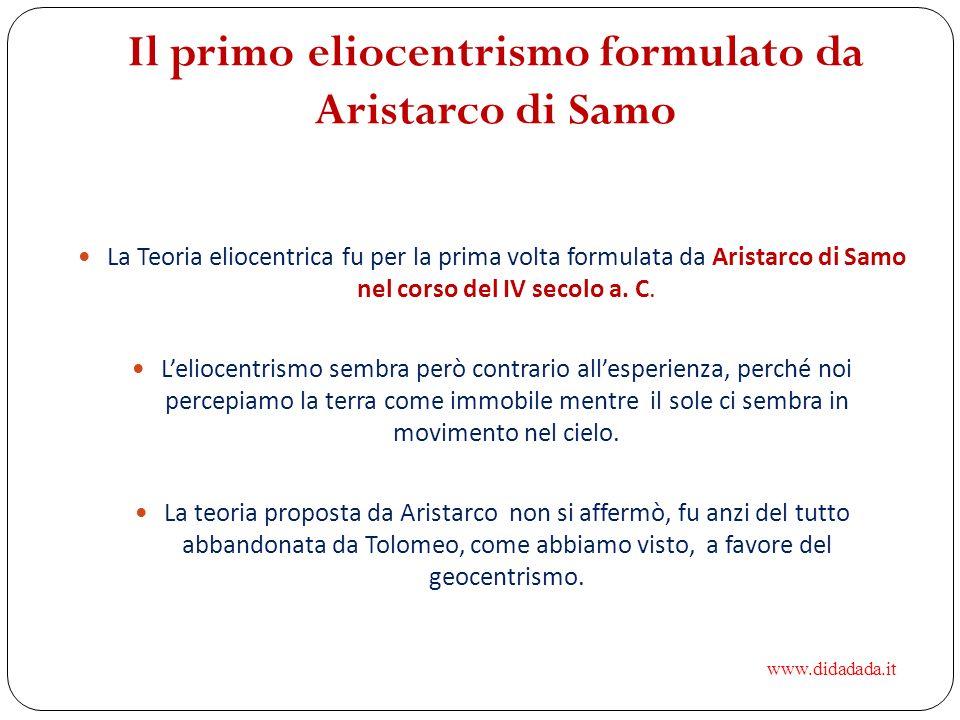 Il primo eliocentrismo formulato da Aristarco di Samo