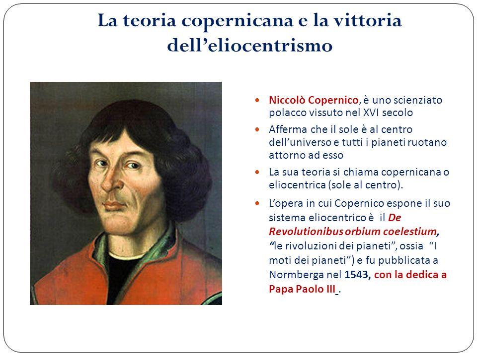 La teoria copernicana e la vittoria dell'eliocentrismo