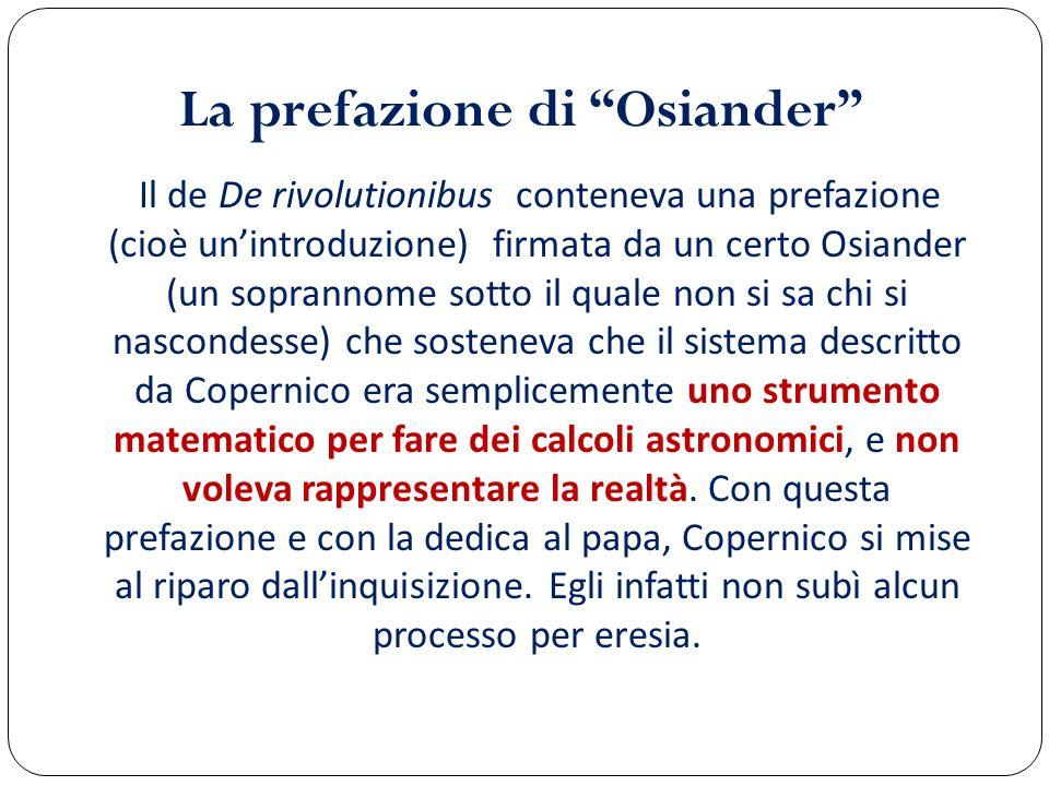 La prefazione di Osiander