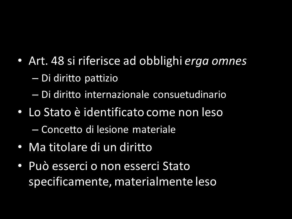 Art. 48 si riferisce ad obblighi erga omnes