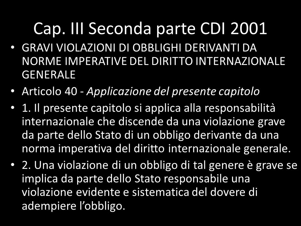 Cap. III Seconda parte CDI 2001