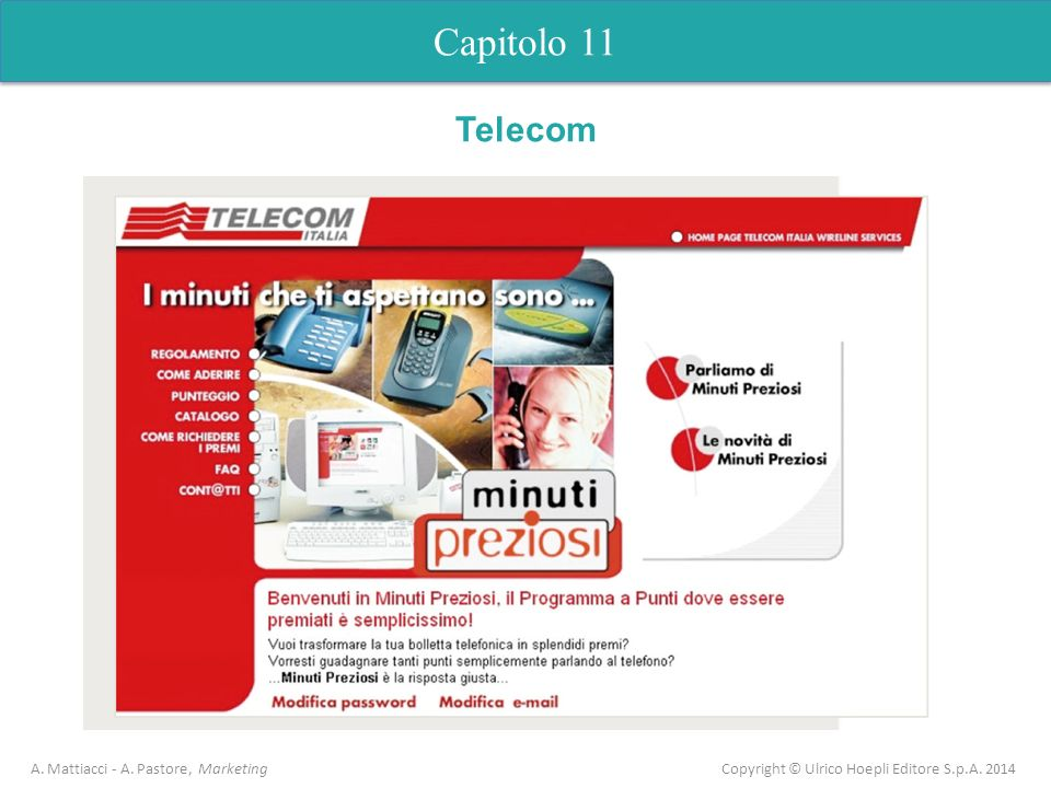 Capitolo 11 Telecom. A. Mattiacci - A.