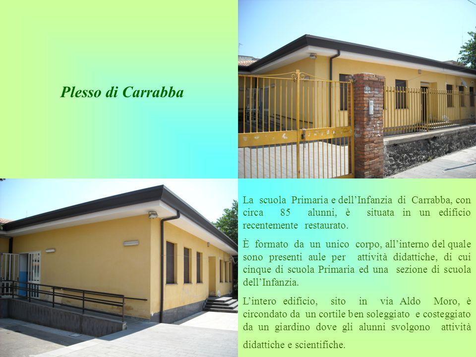Plesso di Carrabba La scuola Primaria e dell'Infanzia di Carrabba, con circa 85 alunni, è situata in un edificio recentemente restaurato.