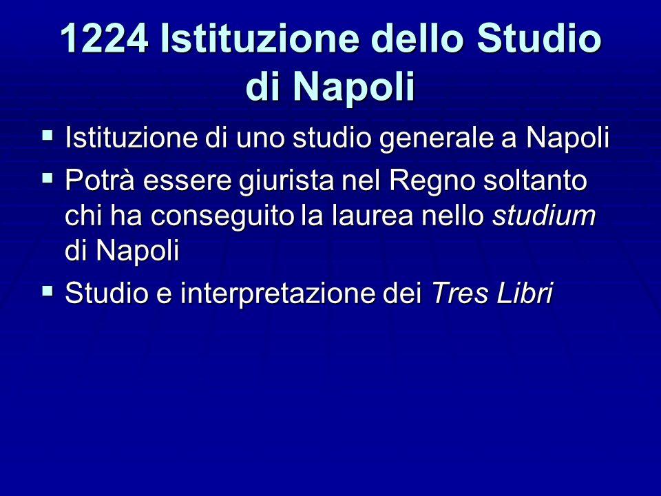 1224 Istituzione dello Studio di Napoli