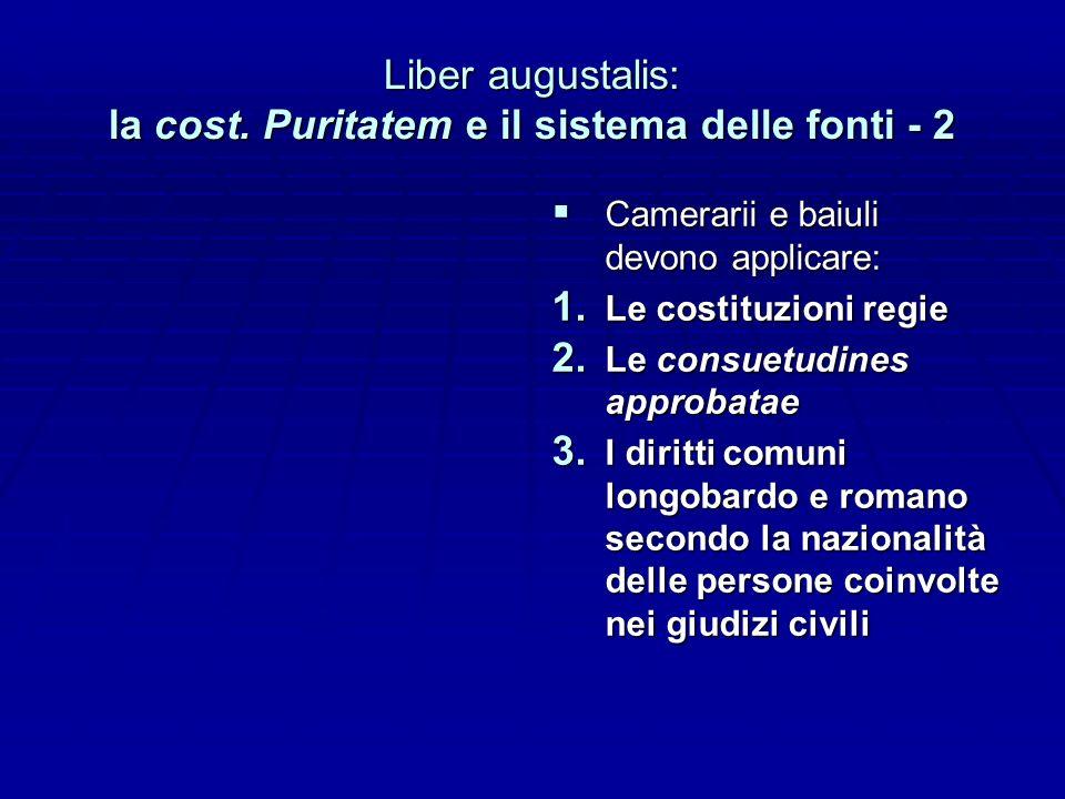 Liber augustalis: la cost. Puritatem e il sistema delle fonti - 2