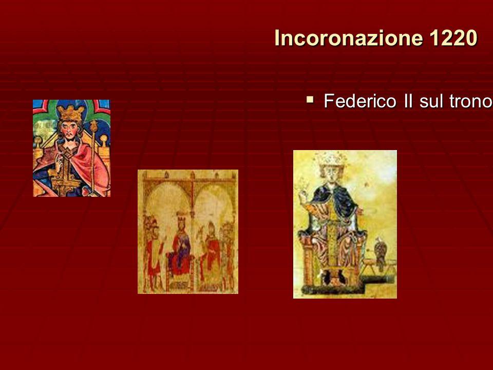 Incoronazione 1220 Federico II sul trono