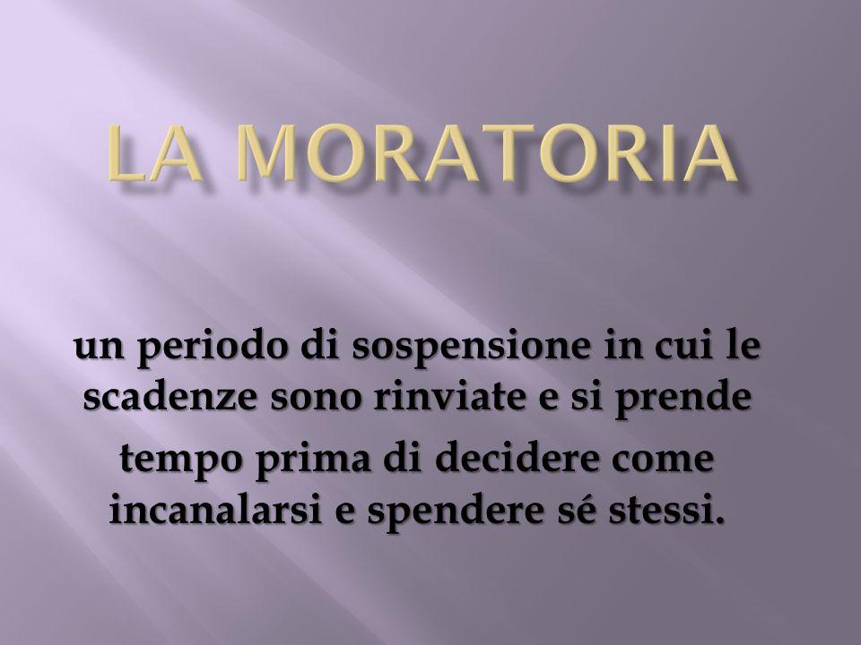 La moratoria un periodo di sospensione in cui le scadenze sono rinviate e si prende.