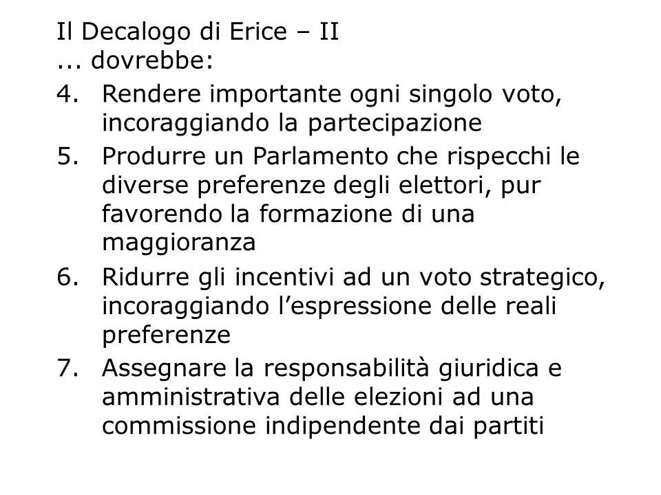 Il Decalogo di Erice – II ... dovrebbe:
