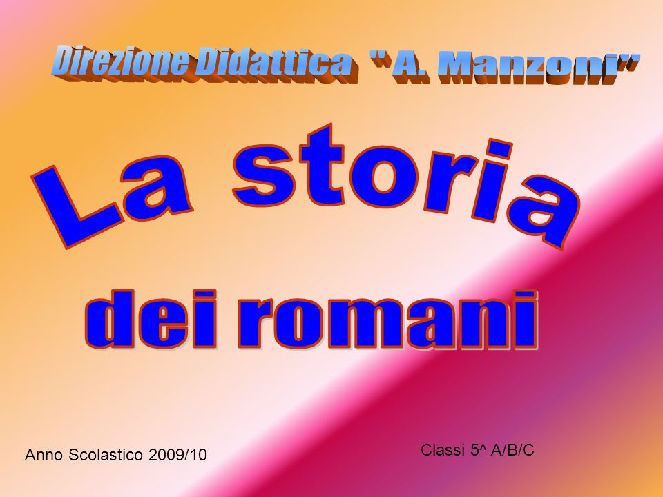 Direzione Didattica A. Manzoni