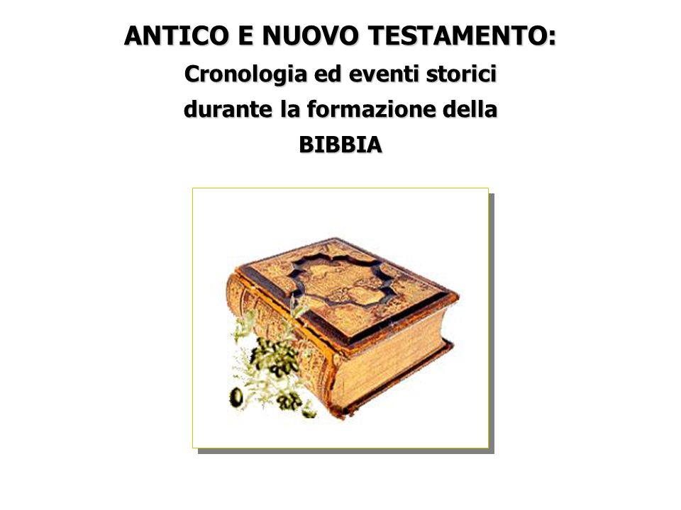 ANTICO E NUOVO TESTAMENTO: