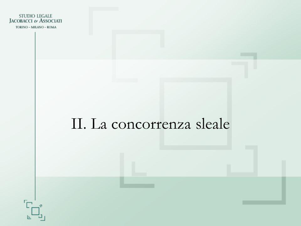 II. La concorrenza sleale