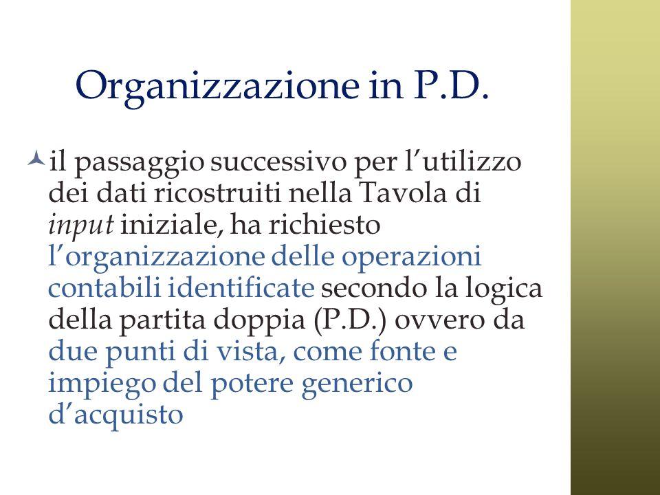 Organizzazione in P.D.