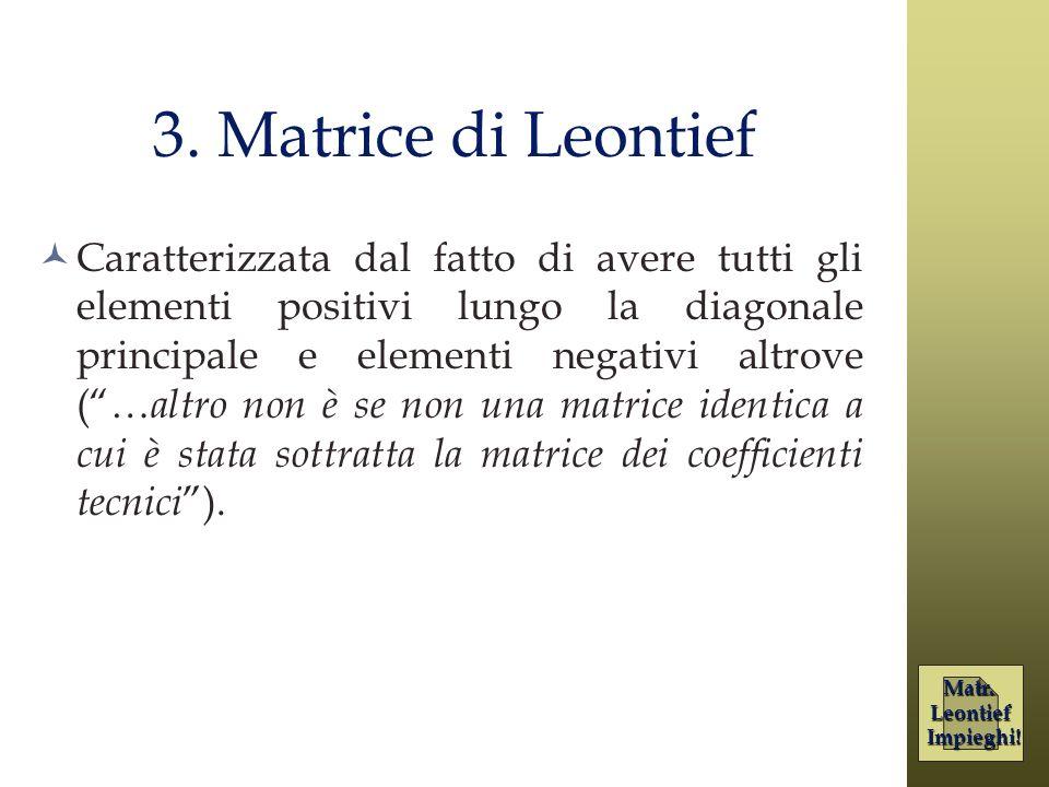 3. Matrice di Leontief