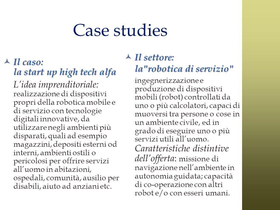 Case studies Il settore: la robotica di servizio