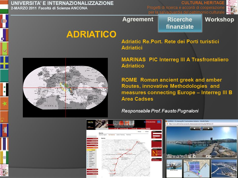 ADRIATICO Agreement Ricerche finanziate Workshop Ricerche finanziate