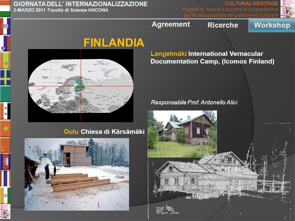 FINLANDIA Agreement Ricerche Workshop Workshop