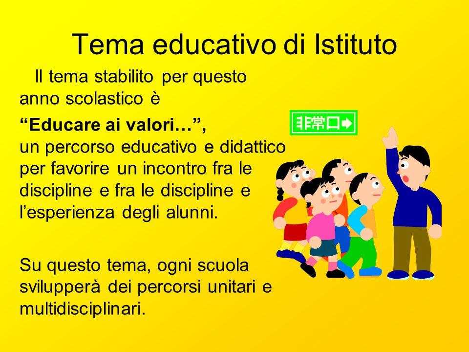 Tema educativo di Istituto