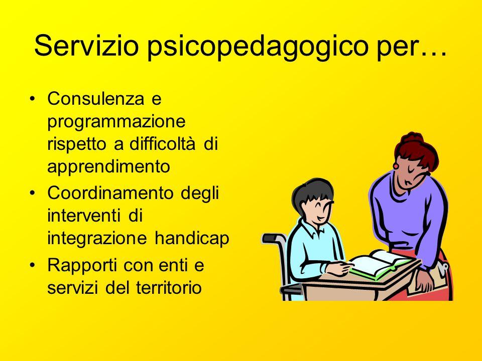 Servizio psicopedagogico per…