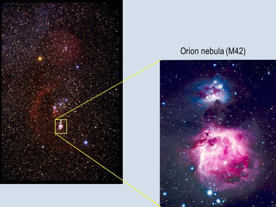 Orion nebula (M42) La più famosa nebulosa dell'emisfero nord : M42 o nebulosa di Orione.