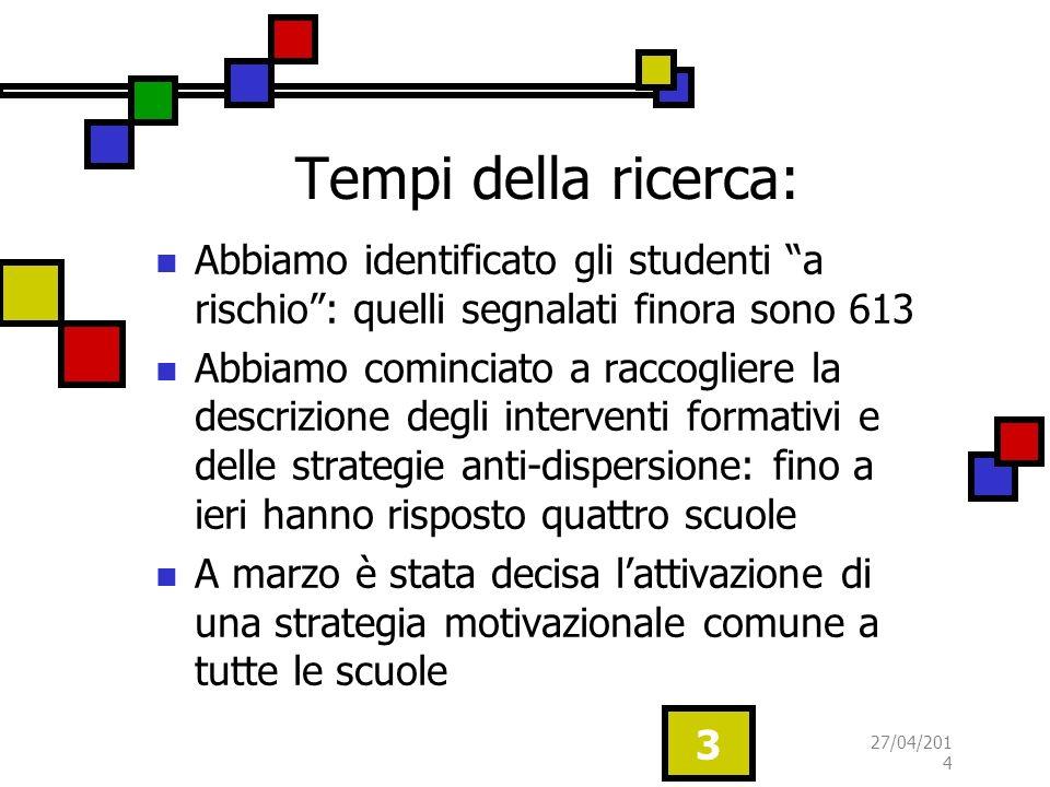 Tempi della ricerca: Abbiamo identificato gli studenti a rischio : quelli segnalati finora sono 613.