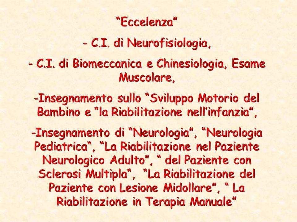 - C.I. di Neurofisiologia,