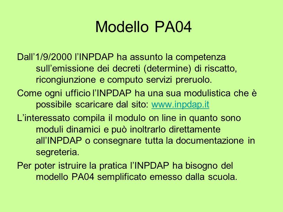 Modello PA04