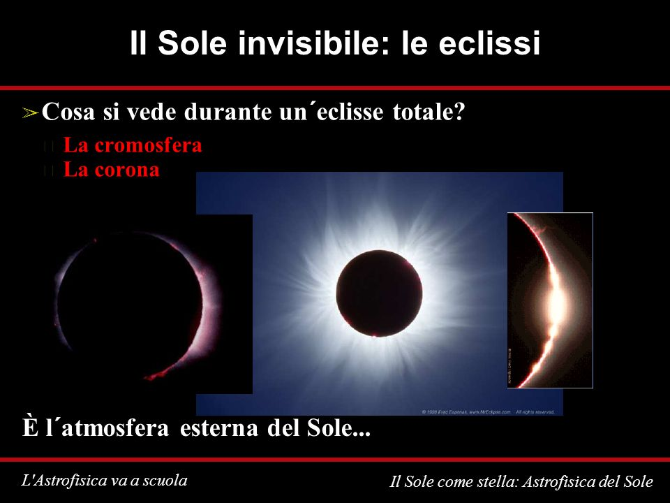 Il Sole invisibile: le eclissi