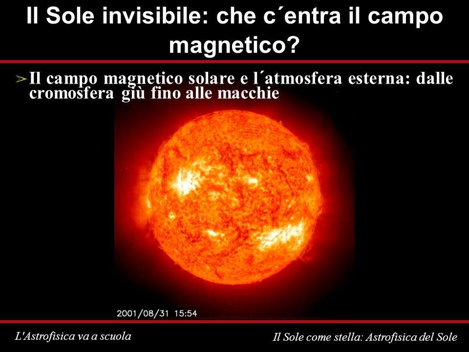 Il Sole invisibile: che c´entra il campo magnetico