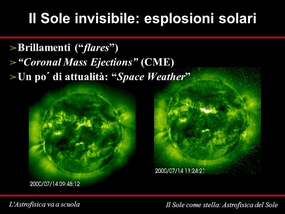 Il Sole invisibile: esplosioni solari