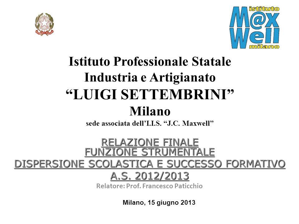 Relatore: Prof. Francesco Paticchio