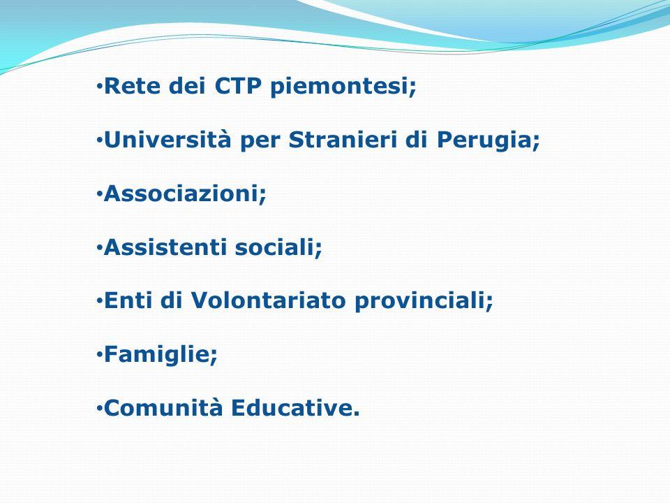 Rete dei CTP piemontesi;