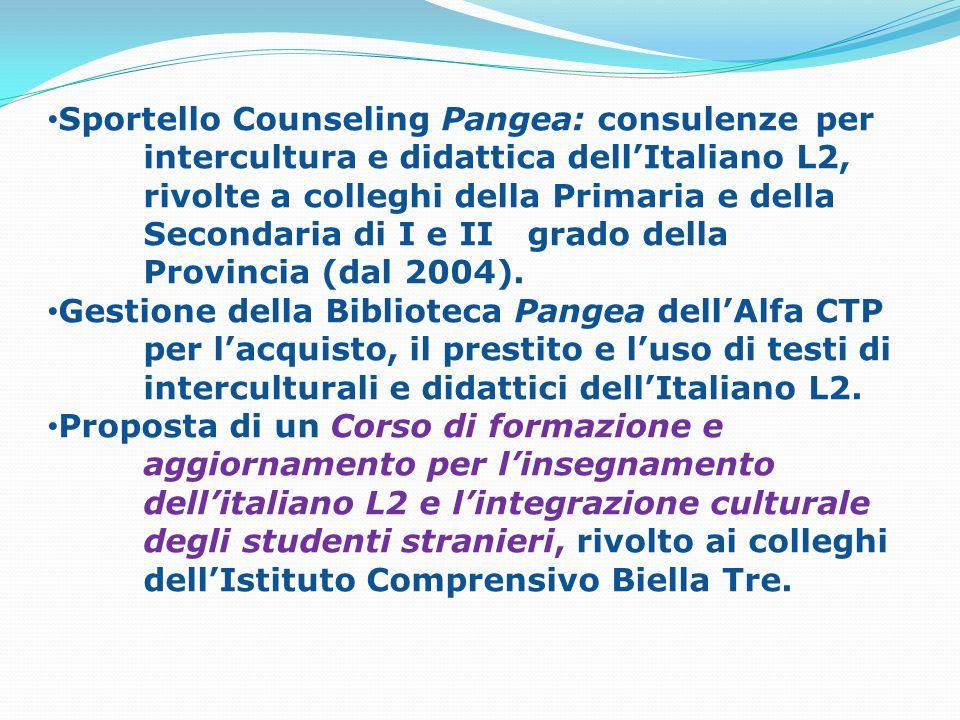 Sportello Counseling Pangea: consulenze. per