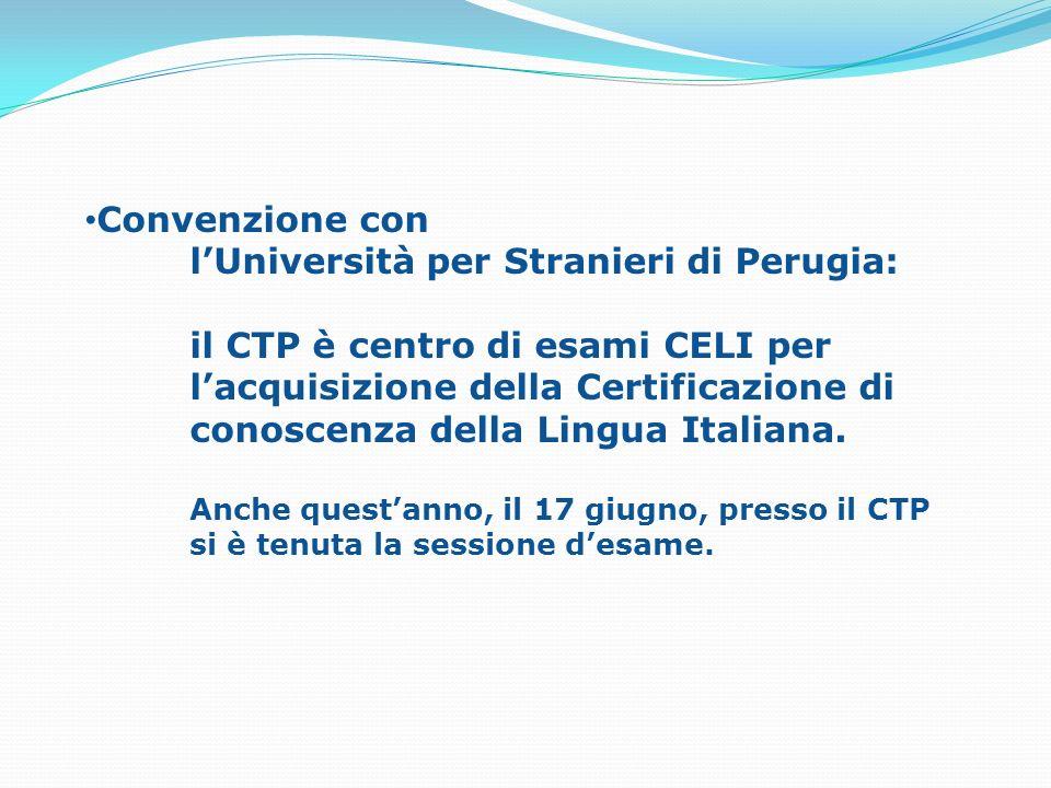 l'Università per Stranieri di Perugia: