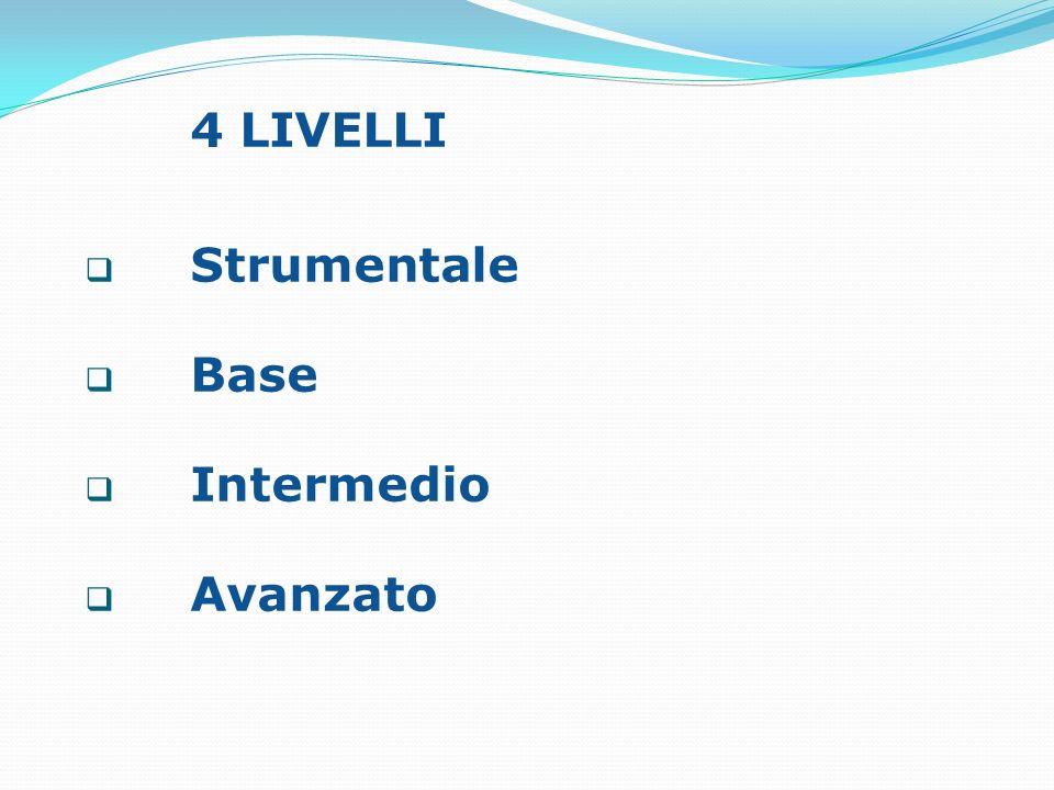 4 LIVELLI Strumentale Base Intermedio Avanzato