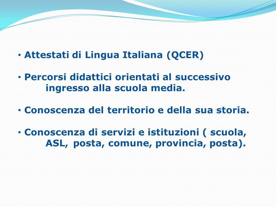 Attestati di Lingua Italiana (QCER)