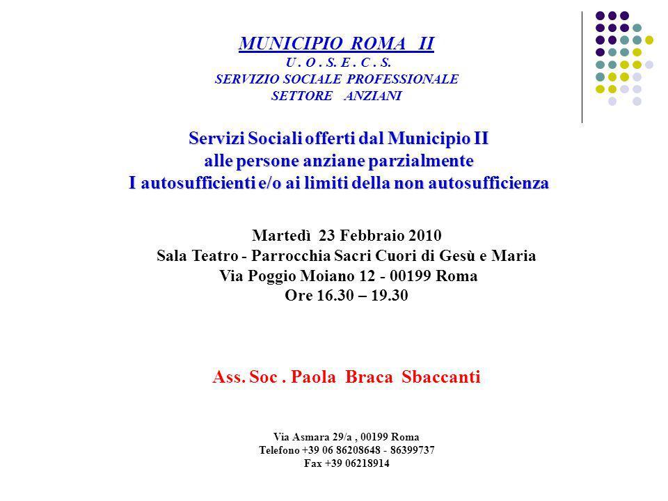 Ass. Soc . Paola Braca Sbaccanti