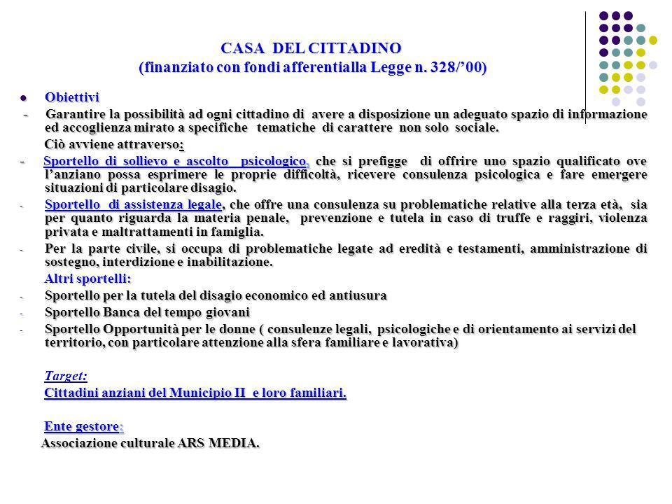 CASA DEL CITTADINO (finanziato con fondi afferentialla Legge n