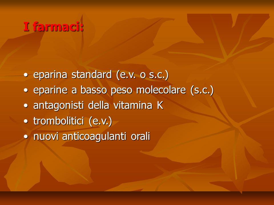 I farmaci: eparina standard (e.v. o s.c.)