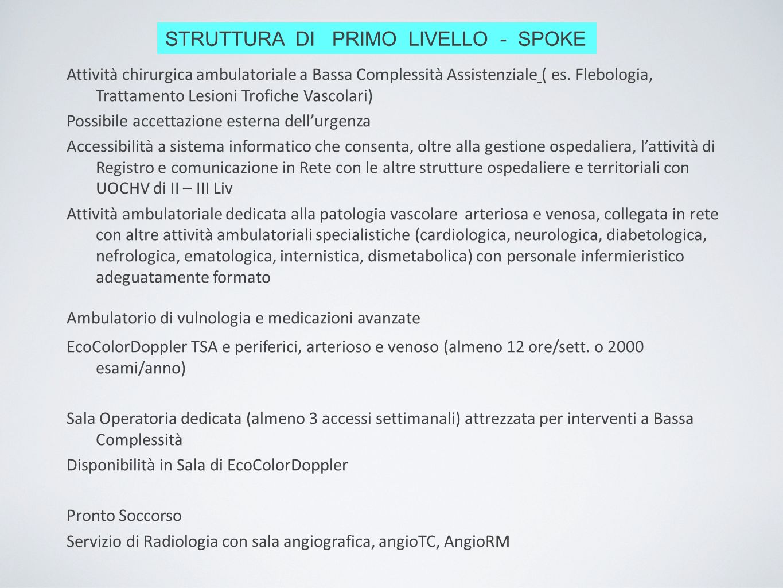 STRUTTURA DI PRIMO LIVELLO - SPOKE