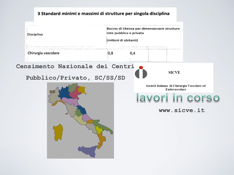 Censimento Nazionale dei Centri Pubblico/Privato, SC/SS/SD