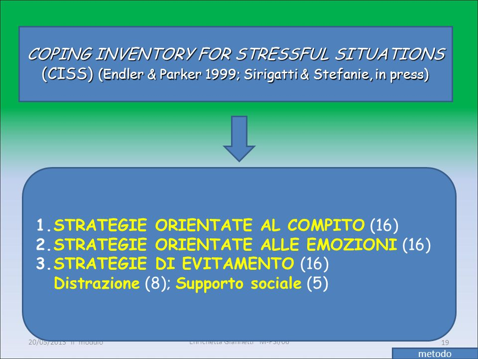 STRATEGIE ORIENTATE AL COMPITO (16)