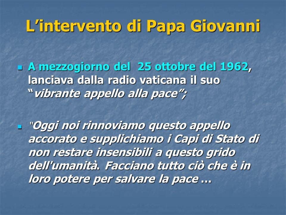L'intervento di Papa Giovanni