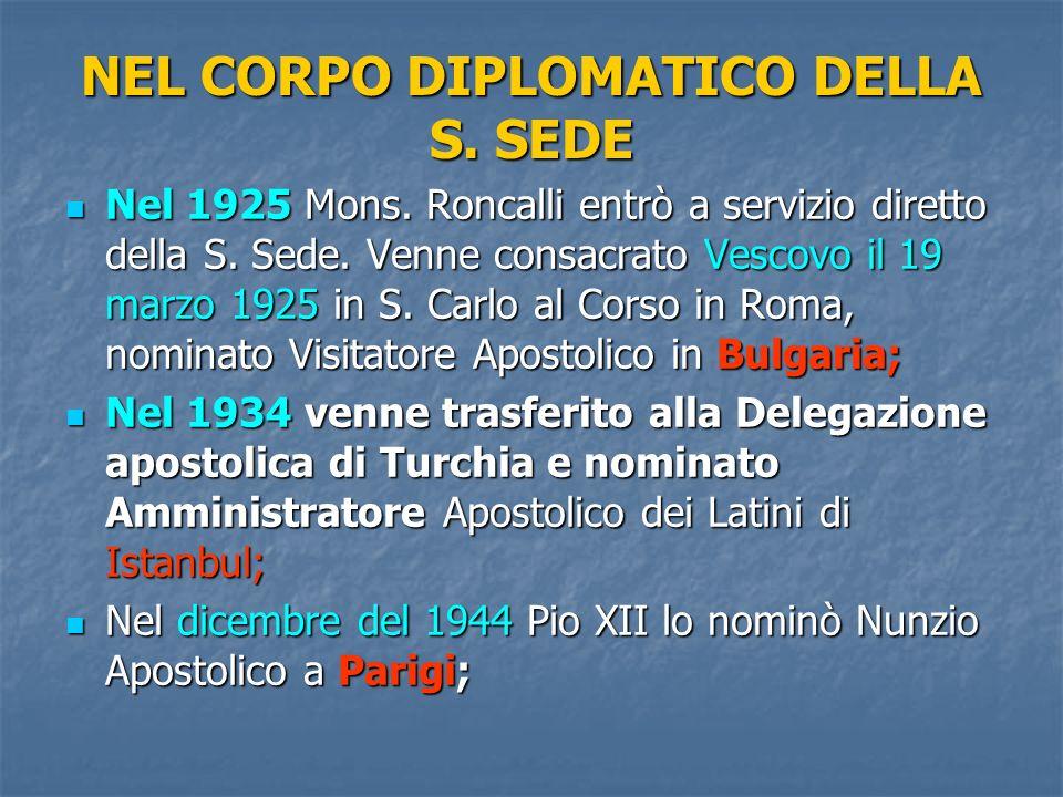NEL CORPO DIPLOMATICO DELLA S. SEDE