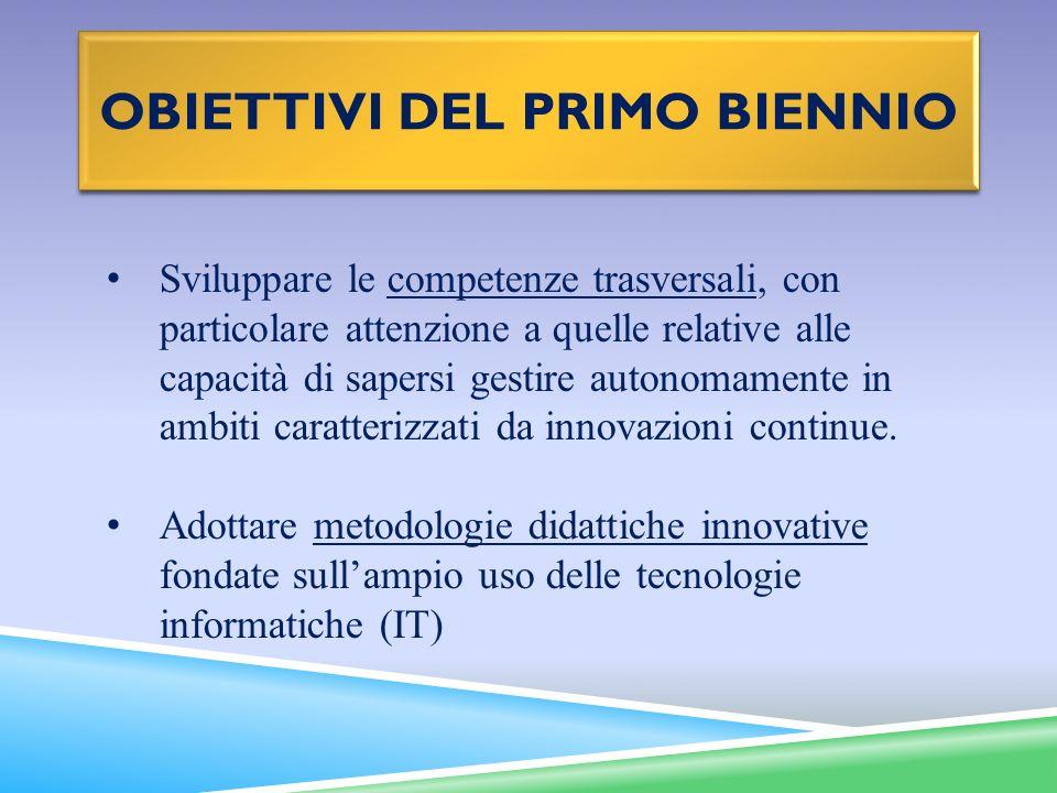 obiettivi deL primo biennio