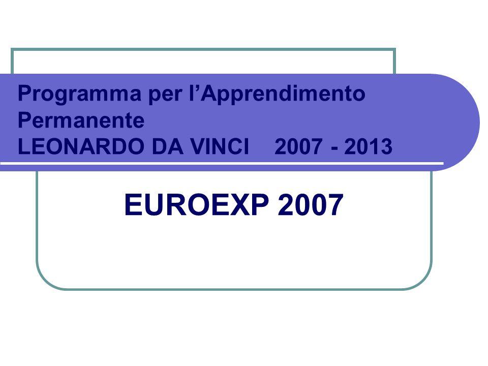 Programma per l'Apprendimento Permanente LEONARDO DA VINCI 2007 - 2013